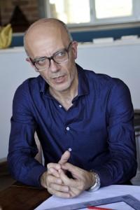 Giorgio Magliocca nel suo studio