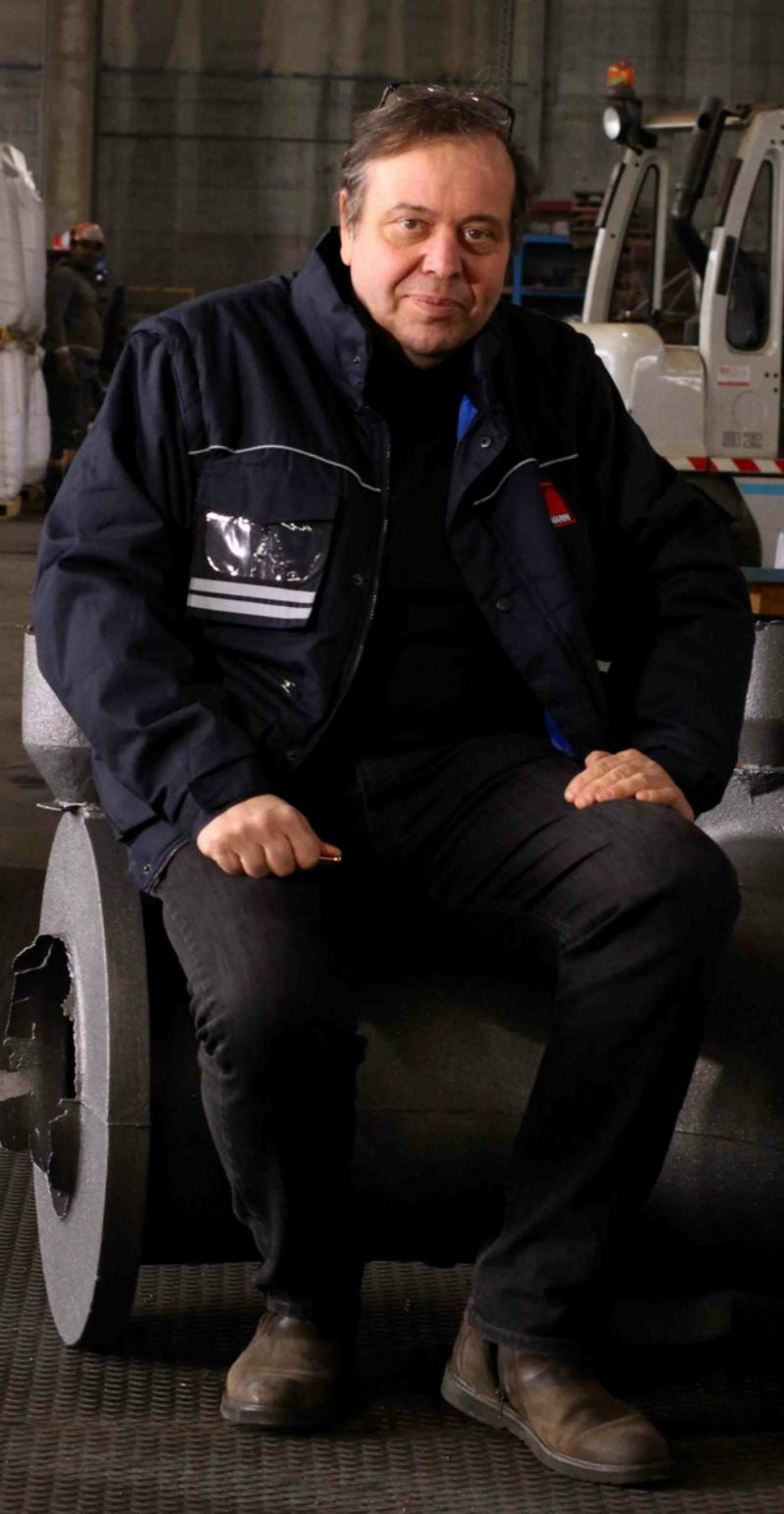 Lino Marini nella fonderia